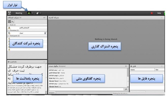 آموزش نحوه استفاده از کلاس آنلاین از طریق نرم افزار ادوبی کانکت